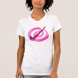 Field Hockey pink logo Tshirts