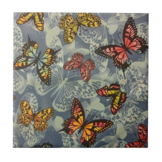 Field of Butterflies Small Square Tile