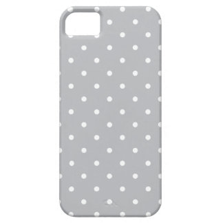 Fifties Style Gray Polka Dot iPhone 5/5S Case