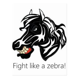 Fight Like a Zebra.png Postcard
