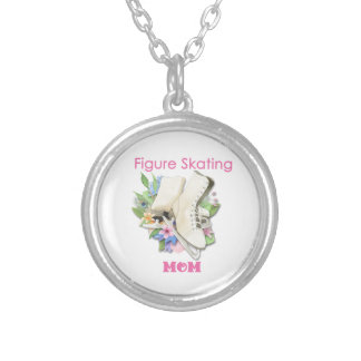 Figure Skating Mom Gift Best Pink Round Pendant Necklace