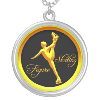 Figure Skating Round Pendant Necklace