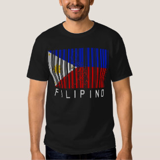 Filipino Flag Barcode Tshirts