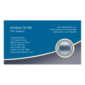 Film Visual Arts Media Film Strip Icon Pack Of Standard Business Cards