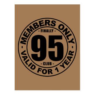 Finally 95 club postcard