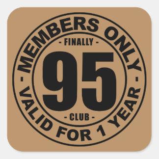 Finally 95 club square sticker