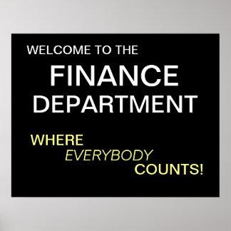 Finance Department Motivational Poster