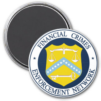 Financial Crimes Enforcement Network 7.5 Cm Round Magnet