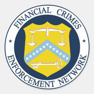 Financial Crimes Enforcement Network Round Sticker