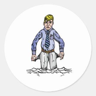 Financial Crisis Round Sticker