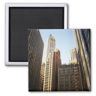 Financial District Skyscrapers, New York City Square Magnet