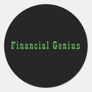 Financial Genius Round Sticker