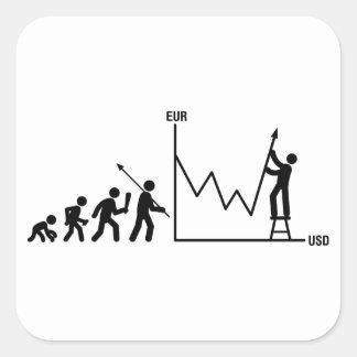 Financial Trader Square Sticker