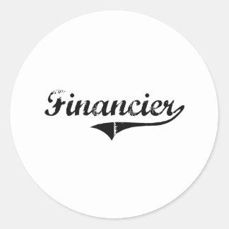 Financier Professional Job Round Sticker