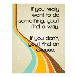 Find a Way Inspirational Quote Postcard
