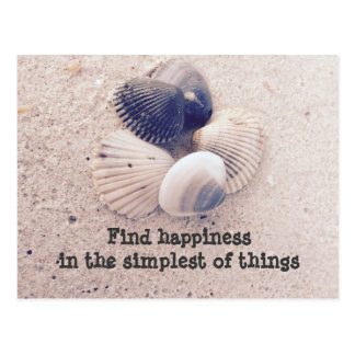 Find happiness postcard