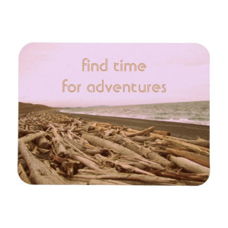 Find Time For Adventures Rectangular Photo Magnet