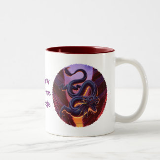"""Fire Cavern"" Close Up Two-Tone Mug"