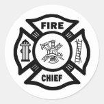Fire Chief Round Sticker