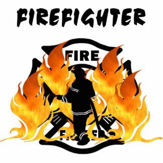 Fire Dept Flames Photo Sculpture Decoration