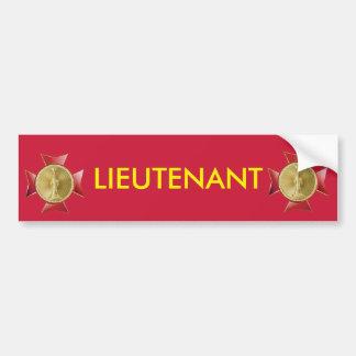 Fire Lieutenant 1 Bugle Maltese Cross Bumper Sticker