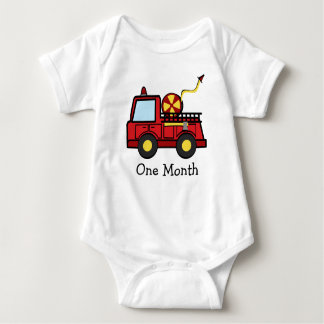 Fire Truck First Month Infant Creeper