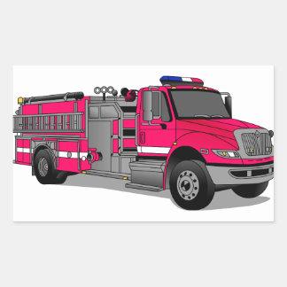 Fire Truck Rectangular Sticker