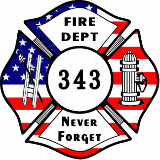 Firefighter 9/11 Never Forget 343 Photo Sculpture Decoration