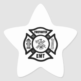 Firefighter EMT Star Sticker