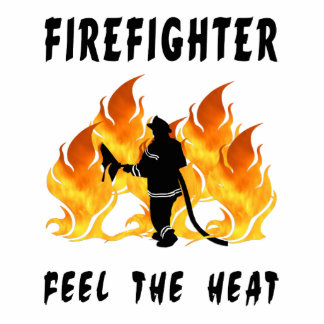 Firefighters Feel The Heat Photo Sculpture Decoration