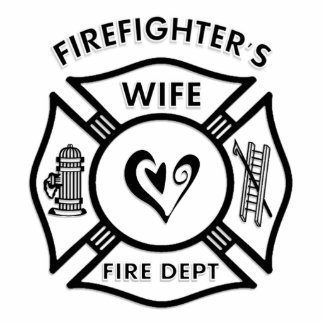 Firefighter's Wife Photo Sculpture Decoration
