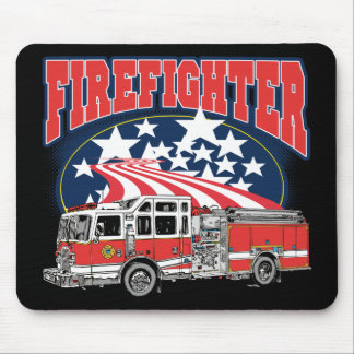 Firefighting Truck Mouse Pad