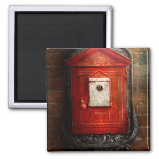 Fireman - The fire box Square Magnet