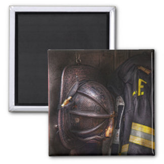 Fireman - Worn and used Square Magnet