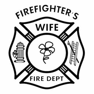 Fireman's Wife Photo Sculpture Decoration