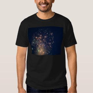 fireworks meteor splash blue swoosh shirts
