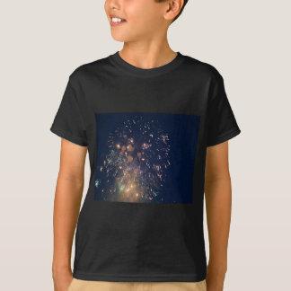 fireworks meteor splash blue swoosh tshirt
