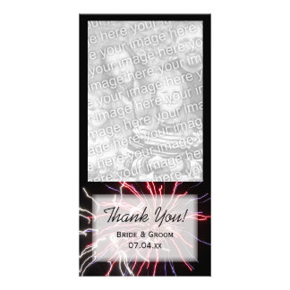 Fireworks Thank You Photo Card