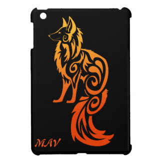Firey Red Tribal Fox Kitsune iPad Mini Covers