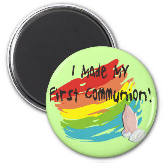 First Communion Day T-Shirts and Gifts 6 Cm Round Magnet
