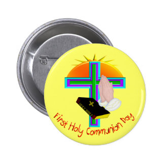 First Holy Communion Day Gifts 6 Cm Round Badge