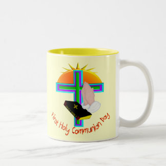 First Holy Communion Day Gifts Two-Tone Mug