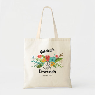 First Holy Communion Floral | Tote Budget Tote Bag