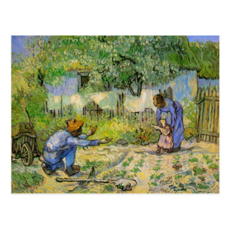 First Steps by Van Gogh, Vintage Impressionism Art Postcard