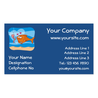 Fish and Bait in Love Pack Of Standard Business Cards