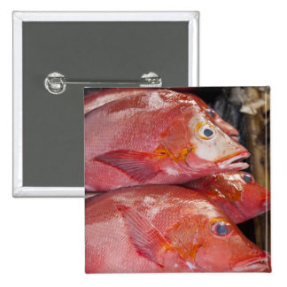 Fish at market, town of Kalabahi, Alor Island, 15 Cm Square Badge