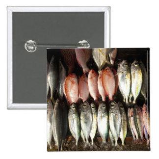 Fish at market, town of Kalabahi, Alor Island, 2 15 Cm Square Badge