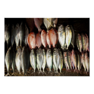 Fish at market, town of Kalabahi, Alor Island, 2 Poster