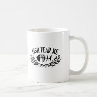 Fish Fear Me Tattoo Basic White Mug