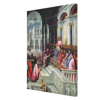 Fisherman Giving the Ring to the Doge of Venice Gallery Wrap Canvas